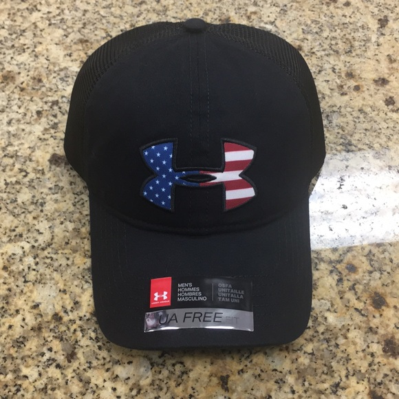 e2c64c430e6 50% off under armour american flag hat b4720 bf9bb